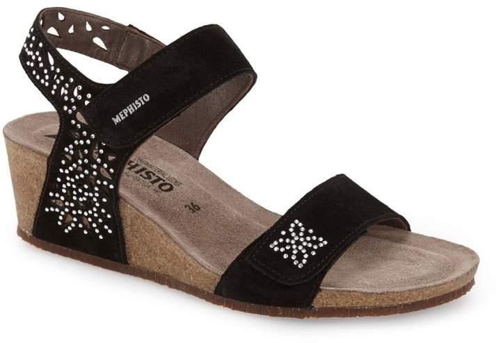 Mephisto 'Marie - Spark' Wedge Sandal