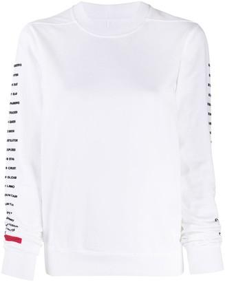 Rick Owens Logo Print Long-Sleeved Jumper