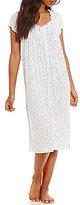 Eileen West Floral-Print Jersey Waltz Nightgown