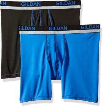 Gildan Men's Stretch Polyester Athletic Boxer Briefs 2-Pack