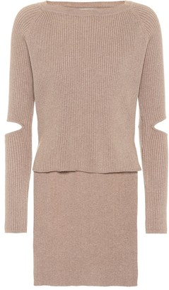 Live The Process Cut-out cashmere-blend sweater