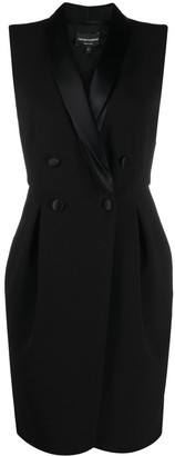 Emporio Armani Sleeveless Tuxedo Dress