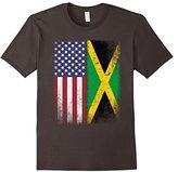 American Jamaican Flag T-shirt Jamaica Pride Heritage Tee