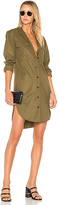Rag & Bone Mason Shirt Dress in Olive. - size S (also in XS)