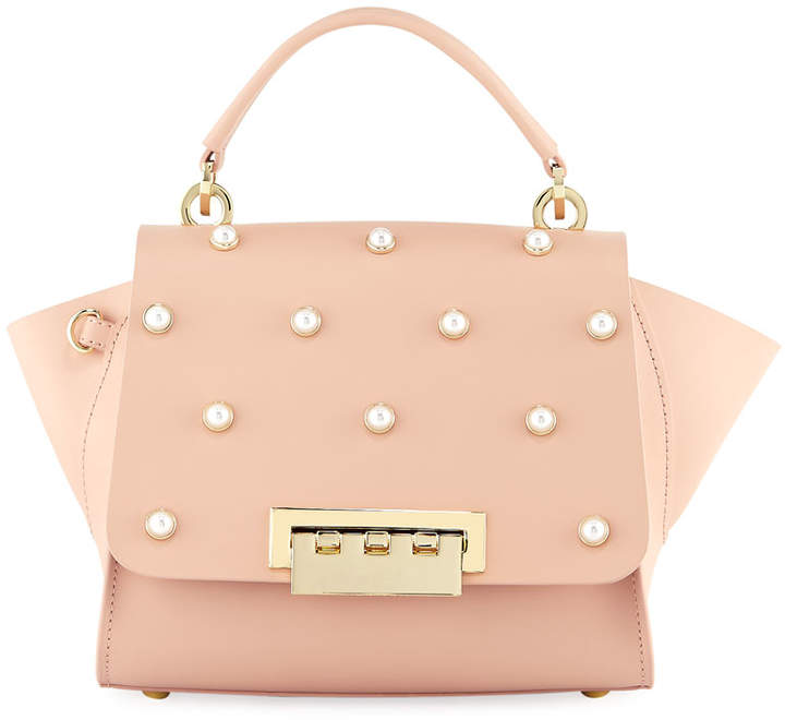 Zac Posen Eartha Iconic Pearly Crossbody Top-Handle Bag, Light Pastel Pink