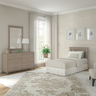Bush Furniture Somerset Dresser with Mirror and Twin Size Headboard
