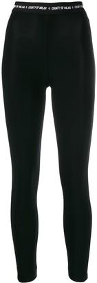Marcelo Burlon County of Milan logo waistband leggings