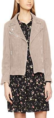Replay Women's W7345 .000.82782 Leather Long Sleeve Jacket - Grey - Medium