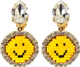 Shourouk Happy Small Smiley Earrings