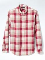 Banana Republic Camden-Fit Gingham Linen Shirt