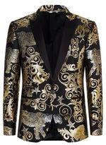 Philipp Plein Metallic Leopard Embroidered Jacket