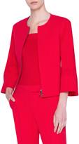 Akris Punto Bi-Stretch Cotton Bell-Sleeve Jacket