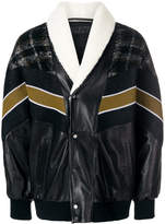 Drome contrast bomber jacket