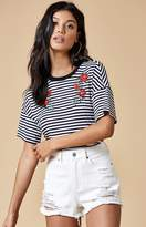 KENDALL + KYLIE Kendall & Kylie Striped Embroidered T-Shirt