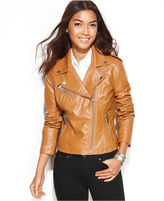 Jacket, Asymmetrical Faux-Leather Motorcycle
