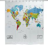 Bed Bath & Beyond The World Vinyl Shower Curtain