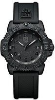 Luminox Navy SEAL Colormark 38mm Unisex Quartz watch with Black dial featuring LLT light Technology 38 millimeters Carbon Compound case and Black PU Strap XS.7051.BO.1