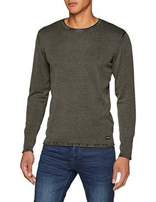 ONLY & SONS Men's Onsgarson 12 Wash Crew Neck Knit Noos Jumper, Green Olive Night
