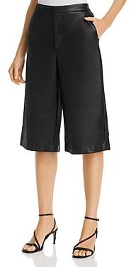 Lucy Paris Faux-Leather Culotte Shorts - 100% Exclusive