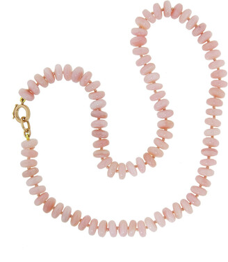 Irene Neuwirth 8mm Pink Opal Beaded Rose Gold Necklace