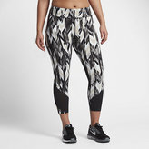 Nike Power Epic Lux Women's Printed Running Crops (Plus Size 1X-3X)
