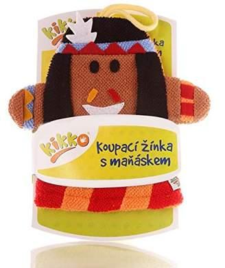 XKKO Ctnb G022 A with Hand Puppet Wash Mitt 100% Cotton, Multi-Coloured