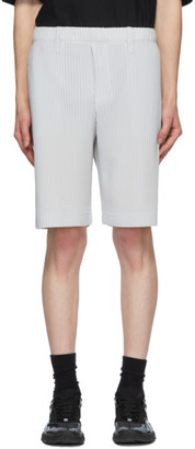 Homme Plissé Issey Miyake Grey Tailored Pleats 2 Shorts