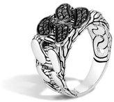 John Hardy Men's Lava Black Sapphire Chain Gourmette Ring