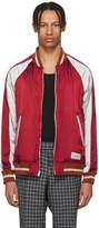 Wacko Maria Reversible Red and Black Ska Bomber Jacket