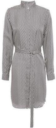 MICHAEL Michael Kors Logo-print Silk-twill Mini Dress