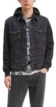 Levi's Levis Men's Big & Tall Hooded Trucker Denim Jacket