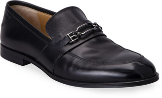 Bally Men's Wesper Leather B-Chain Bit Loafers