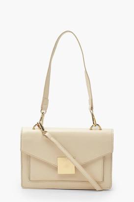 boohoo Pu Envelope Structured Cross Body Bag