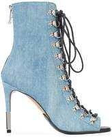 Balmain open toe lace-up boots