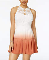 American Rag Juniors' Lace-Trim Dip-Dyed Dress, Only at Macy's
