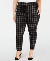 5165808115d Windowpane Pants Plus Size - ShopStyle
