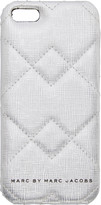 Marc by Marc Jacobs Silver Quilted iPhone 5 Case