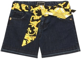 Versace Kids Denim shorts