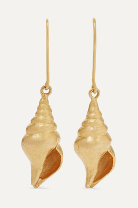 Pippa Small + Net Sustain 18-karat Gold Earrings - one size