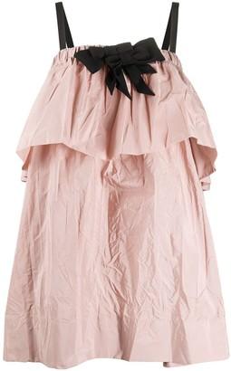 No.21 Ruffled Mini Dress