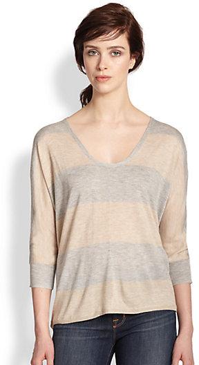 Splendid Dolman-Sleeved Striped Sweater