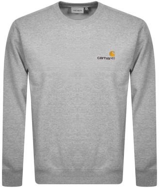 Carhartt Script Logo Sweatshirt Grey
