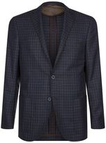 Corneliani Silk and Virgin Wool Check Jacket