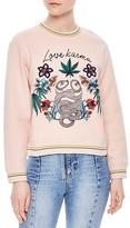Sandro Leaf Embellished Sweatshirt