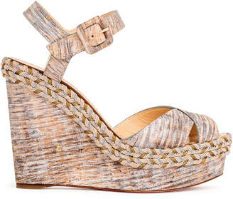 Christian Louboutin Almeria 120 Liege Savane natural wedges