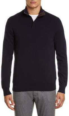 Ermenegildo Zegna Quarter Zip Cashmere Pullover