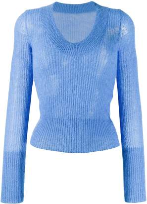 Jacquemus ribbed round neck sweater