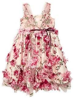 Marchesa Mini Little Girl's Jasmine Floral Dress