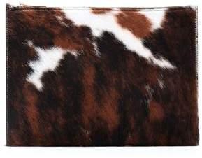 Victoria Beckham Printed Calf Hair Pouch