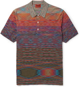 Missoni - Slim-fit Space-dyed Knitted Cotton Polo Shirt